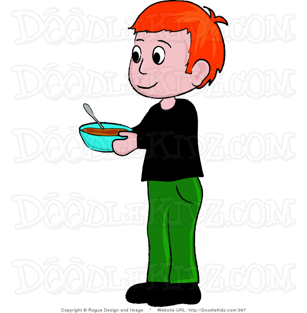 Little boy with brown hair clipart.