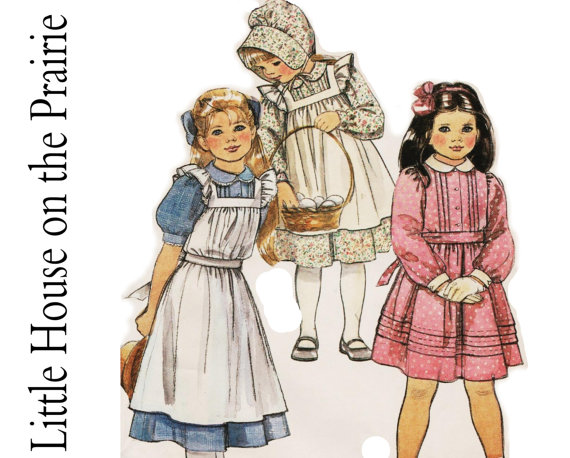 Little House On The Prairie Dresses McCalls 8686 sz 7 Girls.