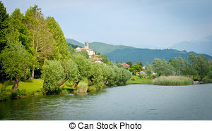 Stock Photography of Little lake in Nettuno (Italy).