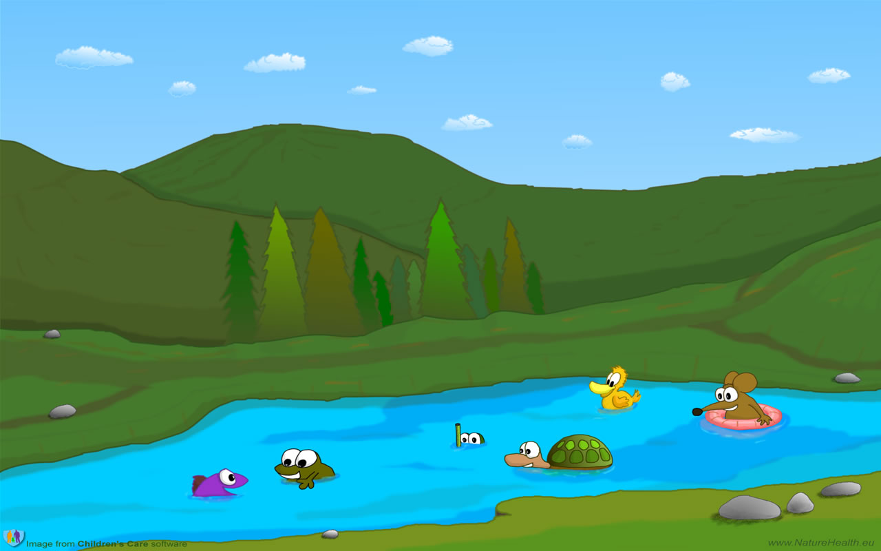 Cartoon Lake Clipart.