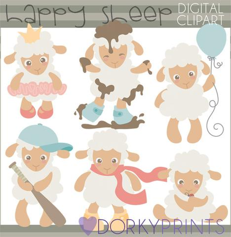 Little Lamb Spring Clipart.