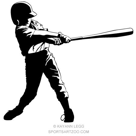 Little League Baseball Hitter.