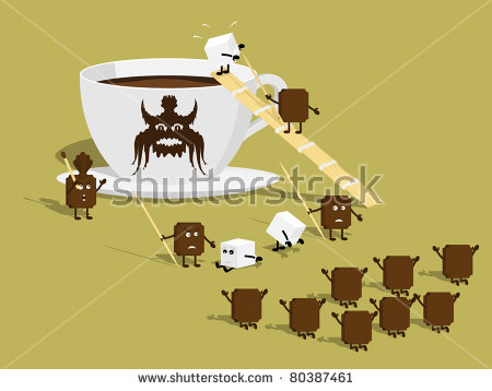 Lump Sugar Vector Illustration Stock Vector 72565774.