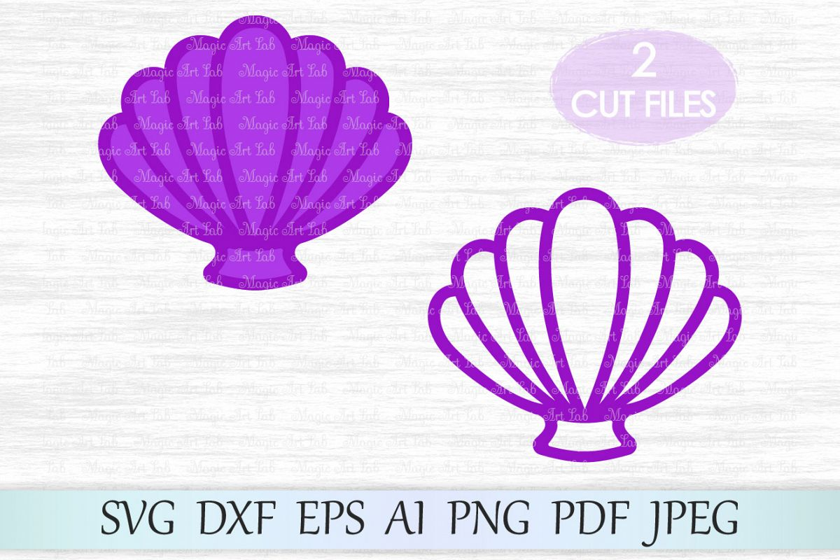 Shell svg file, Sea shell clipart, Mermaid shells svg, Mermaid t.