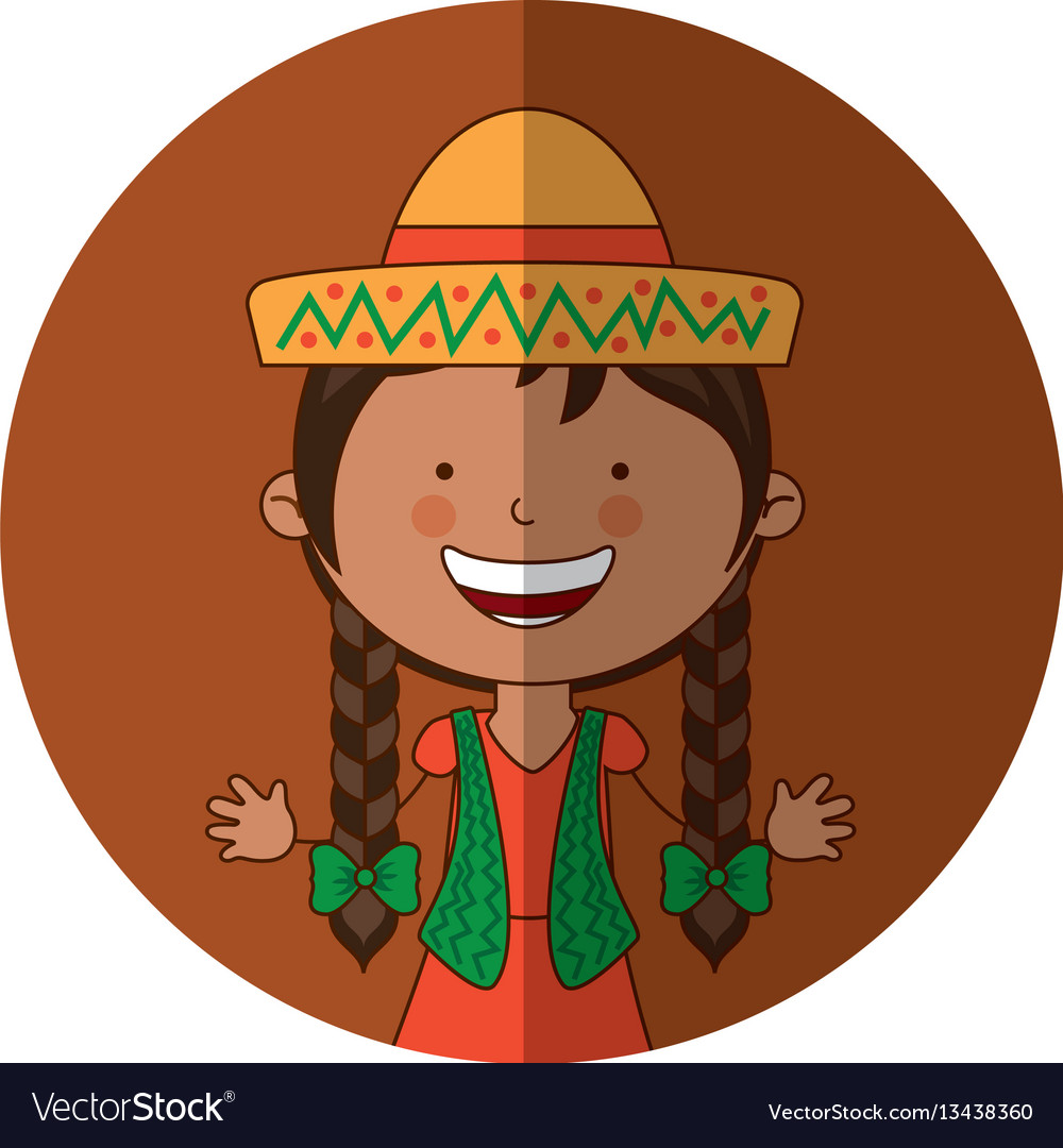 Mexican little girl character.