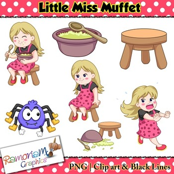 Little Miss Muffet Clip art.