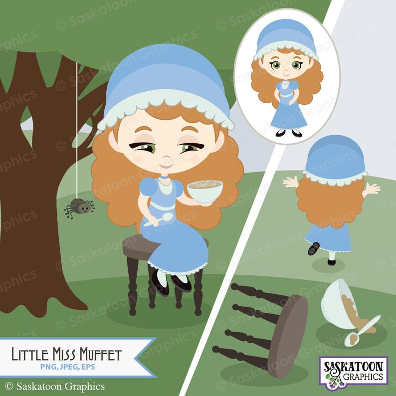 Little Miss Muffet Clipart.