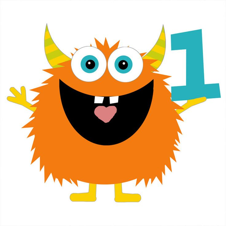 Birthday Monster Clipart.