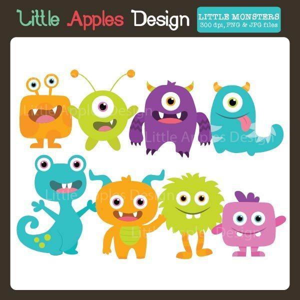 Little Monsters Clipart.