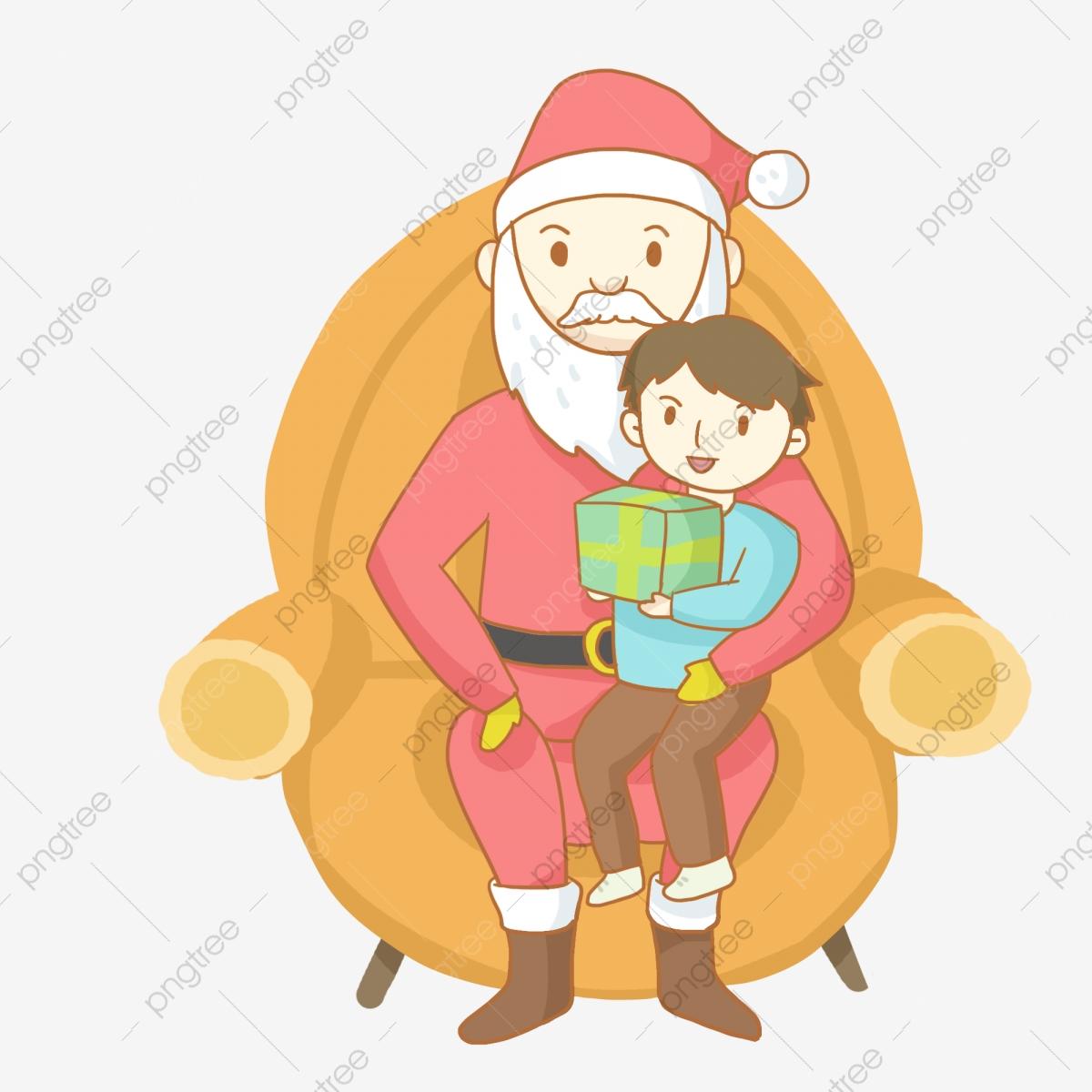 Santa Claus Christmas Little Boy Old Man, Christmas.