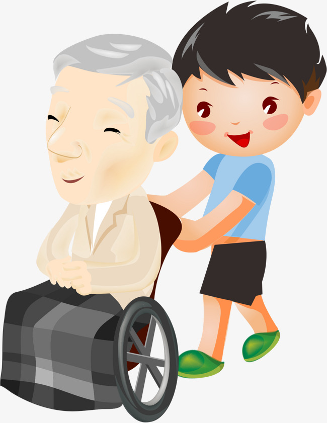 Download Free png Wheelchair Old Man Little Boy, Man Clipart.