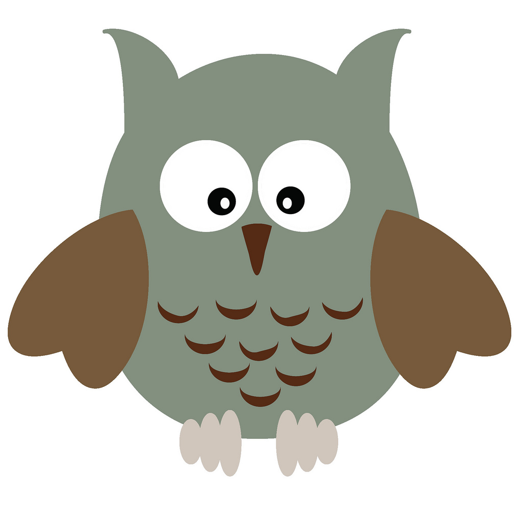 Cute little owl clipart.