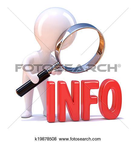 Stock Illustration of 3d Little person info k19878508.