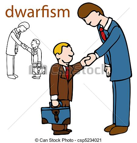 Vector Clip Art of Dwarfism.