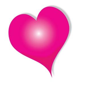 Pink hearts clip art.