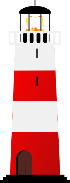 Red light house clipart.