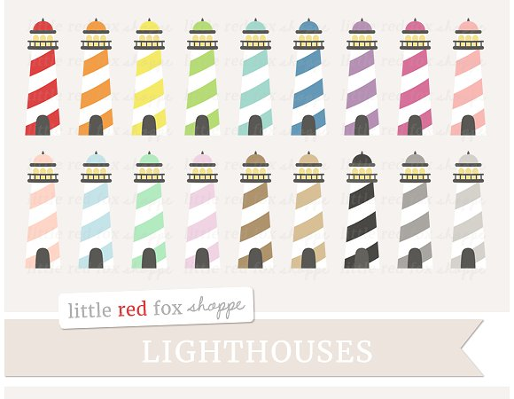 Lighthouse Clipart ~ Illustrations on Creative Market.
