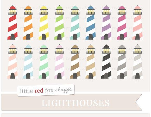 Lighthouse Clipart ~ Illustrations on Creative Market.