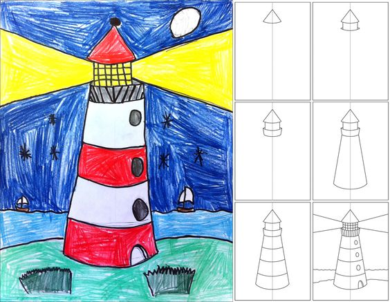 How to Draw a Lighthouse.