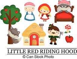 Little red riding hood Vector Clip Art Royalty Free. 350 Little.