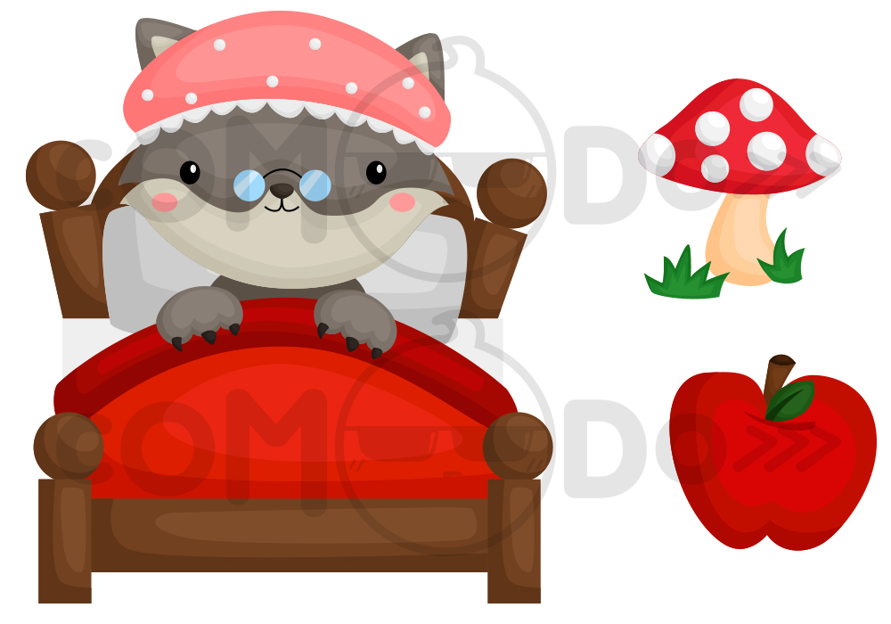Little Red Riding Hood Clipart Collection.