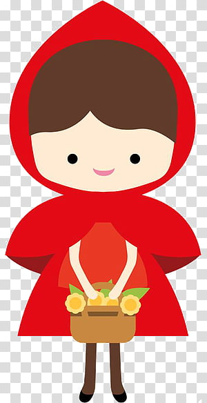 Little Red Riding Hood transparent background PNG cliparts.