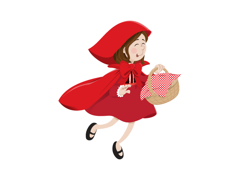 Little Red Riding Hood by Teach Starter on Dribbble.