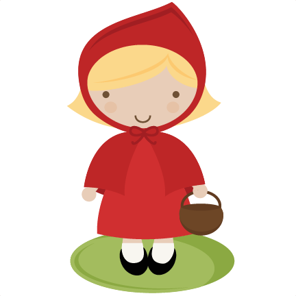 Red Riding Hood SVG cut file for scrapbooking story book svg.