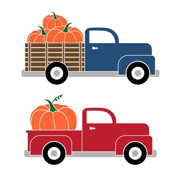 Pumpkin Truck Clipart.