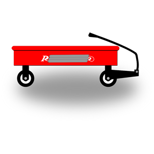 Little Red Wagon clipart, cliparts of Little Red Wagon free.
