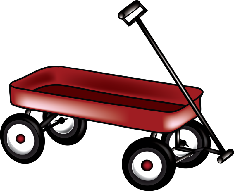 Download Free png little red wagon clipart.