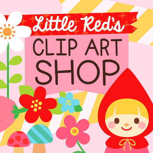 Clip art for crafters and teachers by LittleRedsClipArt on Etsy.