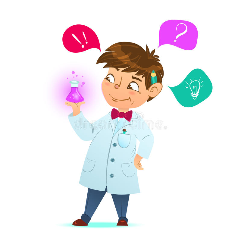 Little Scientist Stock Illustrations.