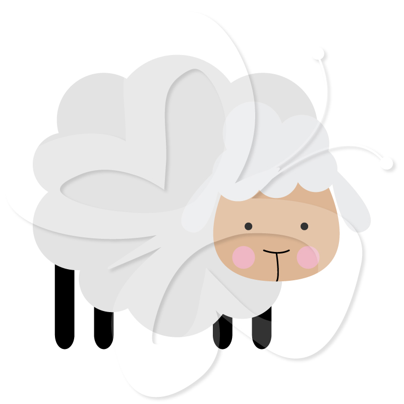 Sheep Clipart Set.