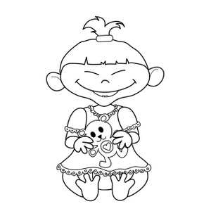 Little Sister Clipart Black And White.