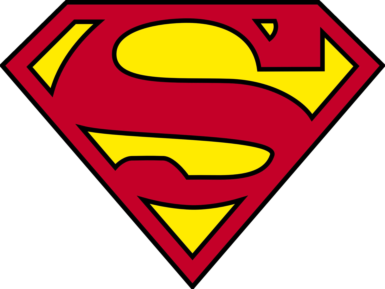 Ripped Open Superman Logo Tshirt.