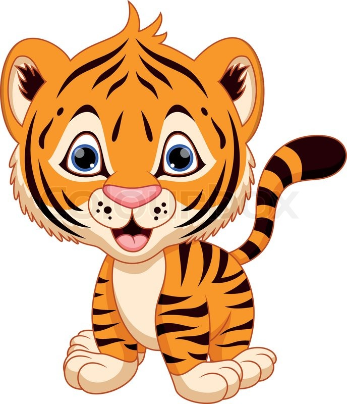 tiger eating clipart #5