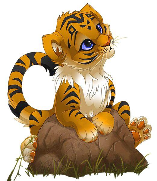 Little tiger clip art.