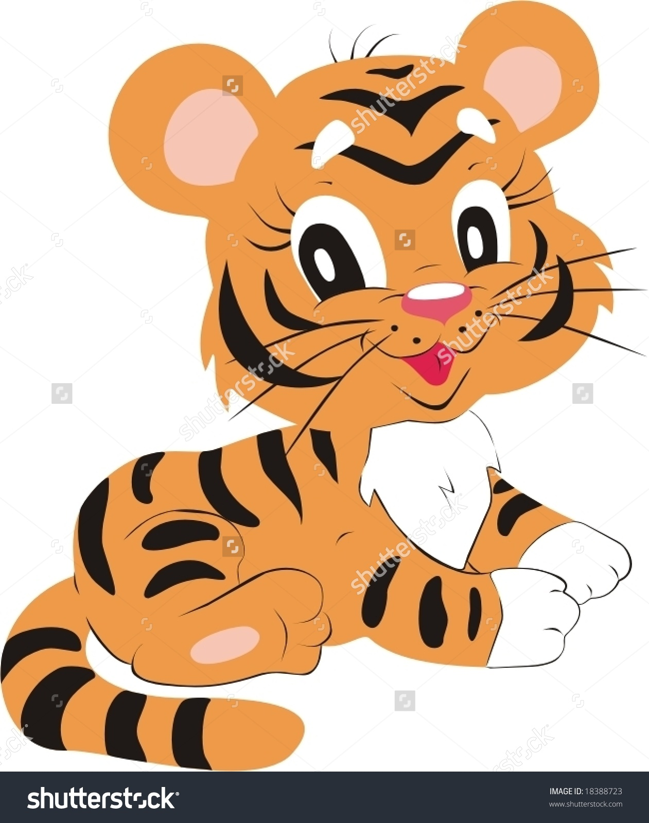 Happy Little Tiger Stock Vector 18388723.