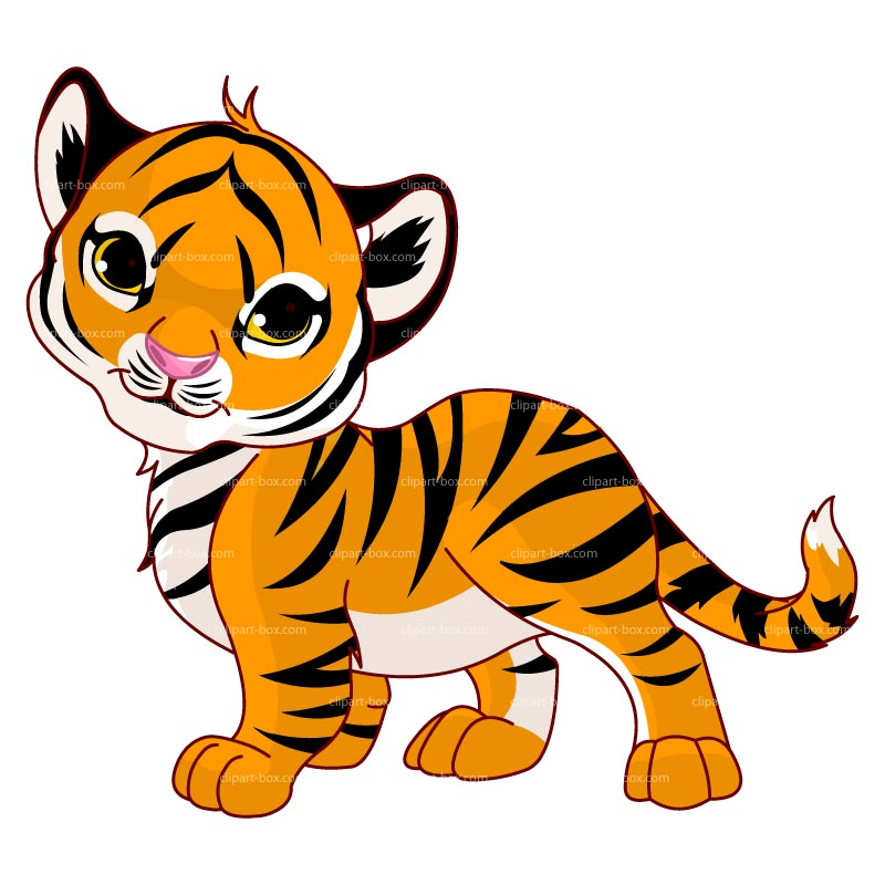 Little tiger clipart.