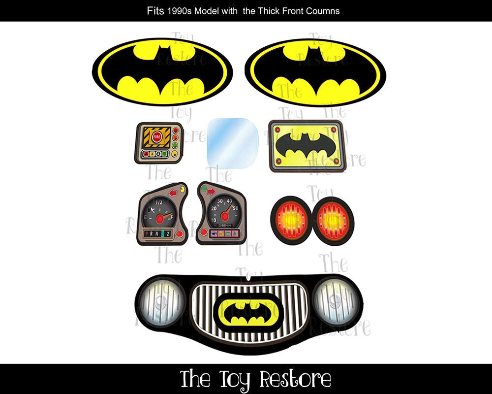 Details about Batman Inspired New Replacement Decals.