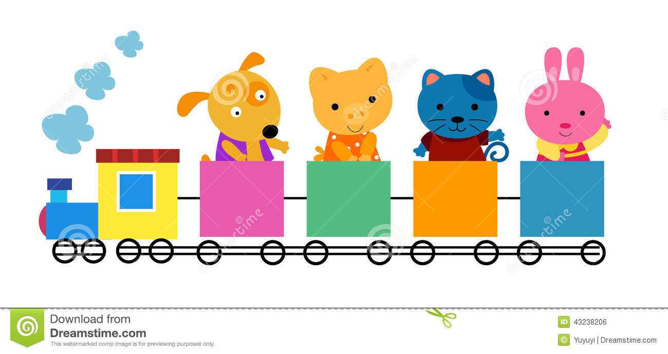 Cute train clipart.