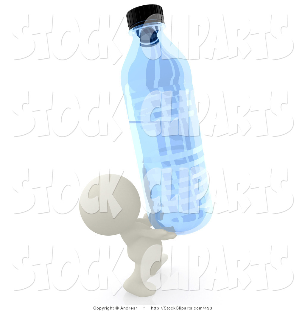 Little Monk Carrying Water Clipart.