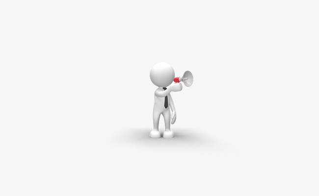 Download Free png White Little Man Holding A Trumpet.