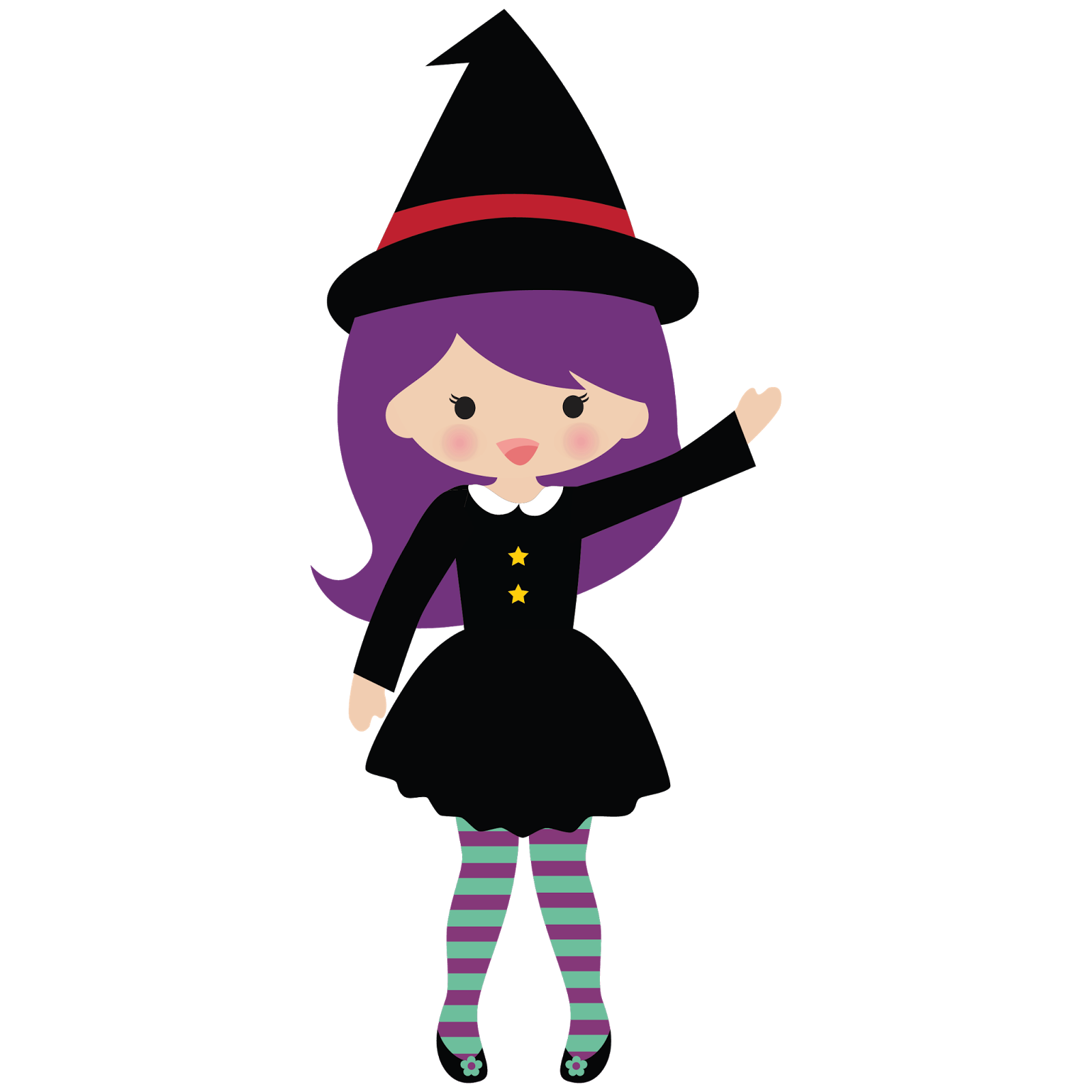 Little Witch Clipart.
