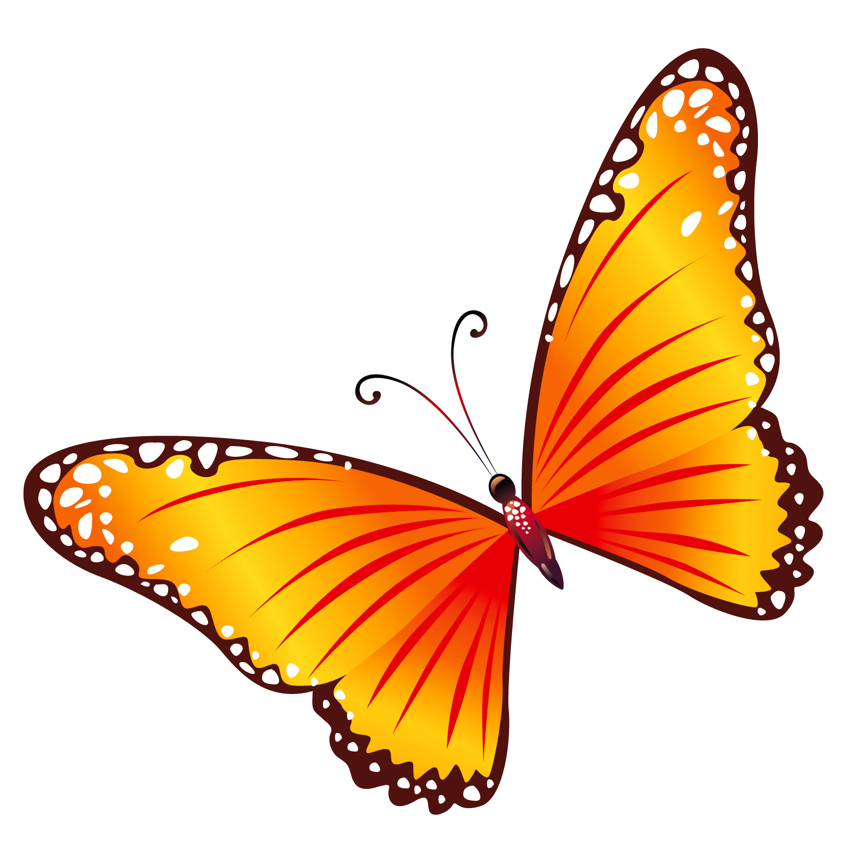 Free clipart transparent little butterfly.