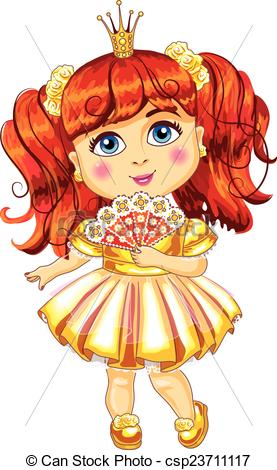 Little yellow dress clipart.