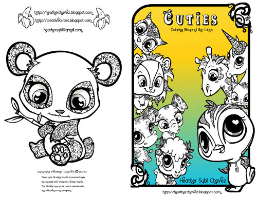Quirky Artist Loft: 'Cuties' Free Animal Coloring Pages.