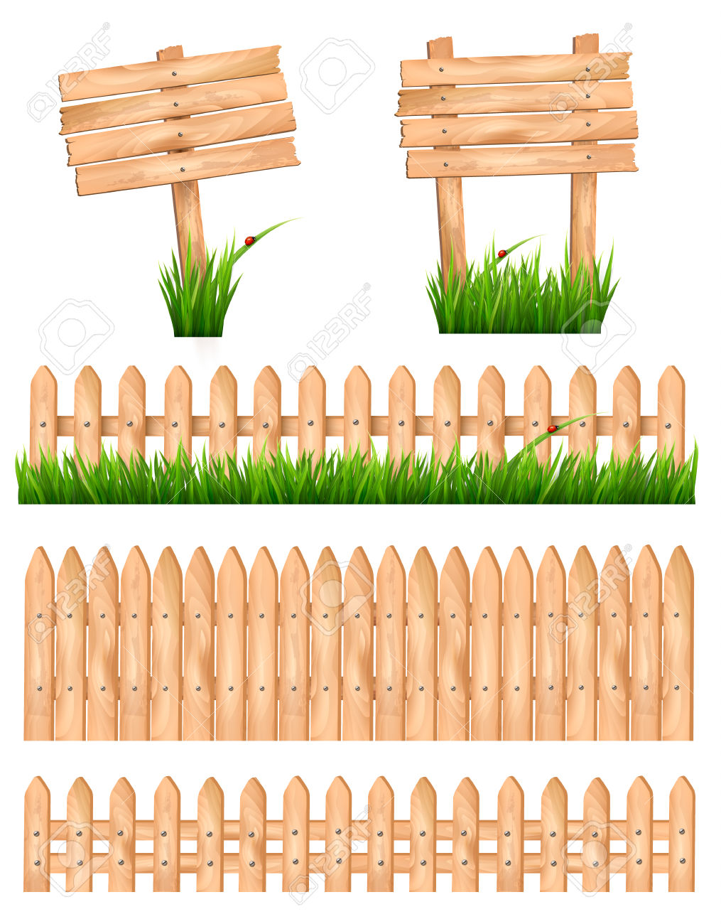 2,116 Picket Fence Stock Vector Illustration And Royalty Free.