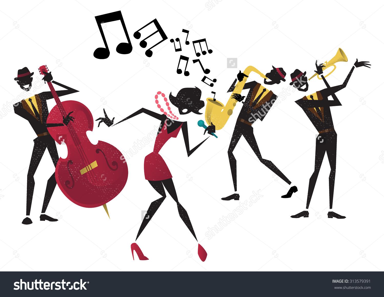 Live Jazz Clip Art.